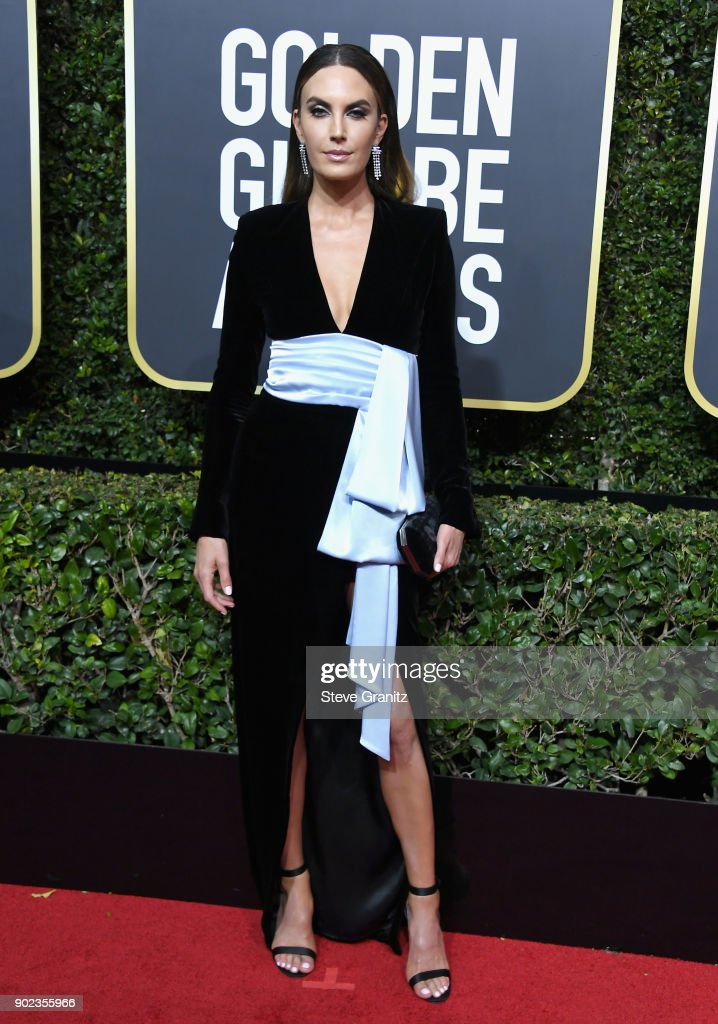Elizabeth Chambers attends The 75th Annual Golden Globe Awards at The Beverly Hilton Hotel on January 7, 2018 in Beverly Hills, California.