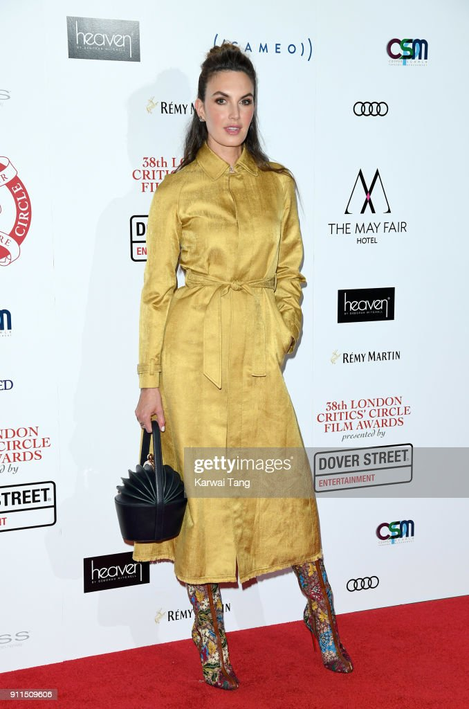 Elizabeth Chambers attends the London Film Critics Circle Awards 2018 at The May Fair Hotel on January 28, 2018 in London, England.