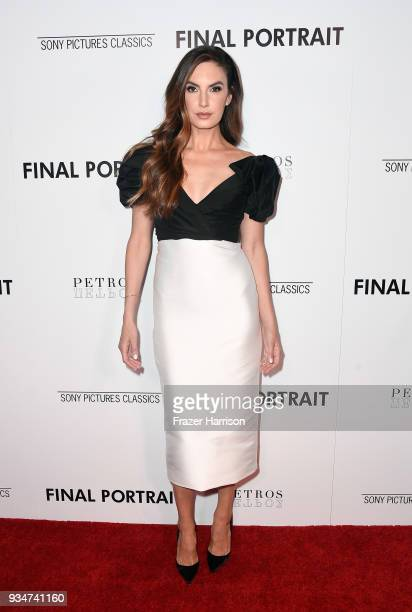 Elizabeth Chambers attends the premiere of Sony Pictures Classics' Final Portrait at Pacific Design Center on March 19 2018 in West Hollywood...