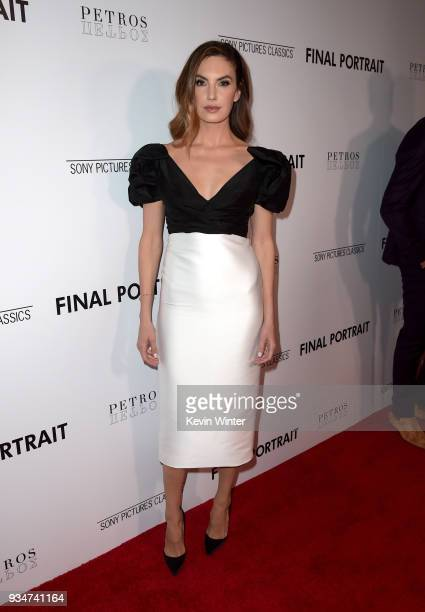 """Elizabeth Chambers attends the premiere of Sony Pictures Classics' """"Final Portrait"""" at Pacific Design Center on March 19, 2018 in West Hollywood,..."""