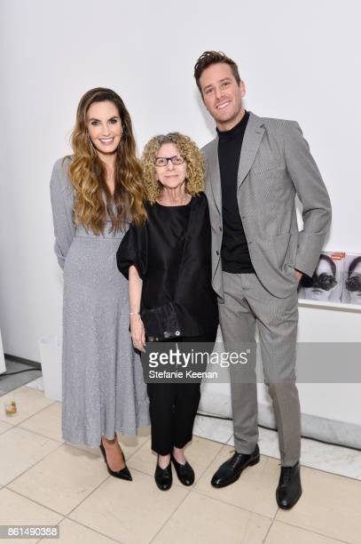 Elizabeth Chambers Barbara Kruger and Armie Hammer at the Hammer Museum 15th Annual Gala in the Garden with Generous Support from Bottega Veneta on...