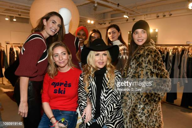 Elizabeth Chambers Hammer, Whitney Wolfe Herd, Halima Aden, Emma Grede, Rachel Zoe, Phoebe Tonkin and Olivia Munn attend the Frame and Bumble winter...