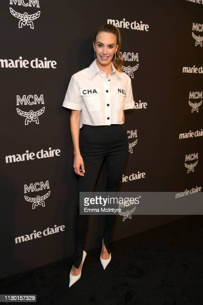 Elizabeth Chambers is seen as Marie Claire honors Hollywood's Change Makers on March 12 2019 in Los Angeles California