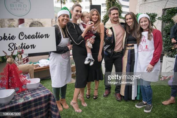 Elizabeth Chambers-Hammer, Sofia Vergara, James Franco, and Isabel Pakzad at the Brooks Brothers Annual Holiday Celebration To Benefit St. Jude at...