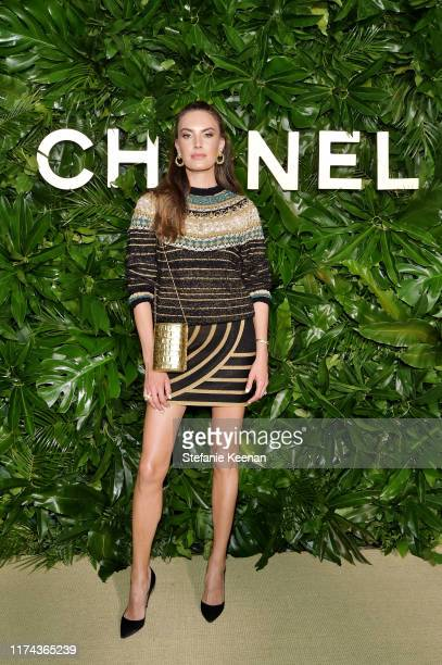 Elizabeth Chamberswearing CHANEL attends Chanel Dinner Celebrating Gabrielle Chanel Essence With Margot Robbie on September 12 2019 in Los Angeles...