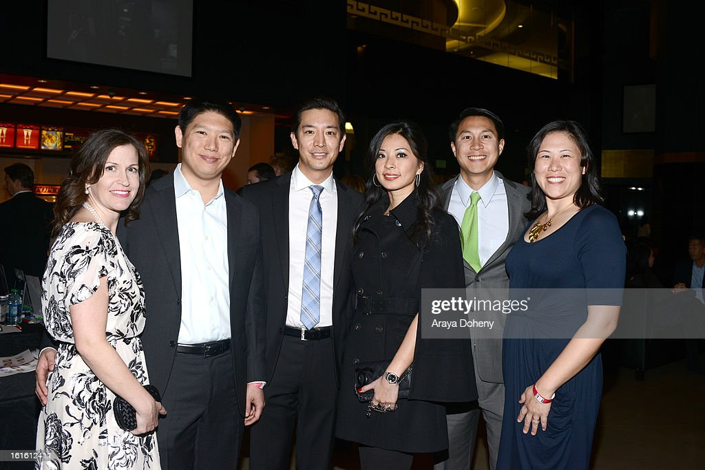Elizabeth Chao, Michael Chao, Steven Chao, Tanya Chao, Kenyan Lewis and Susan Lewis attend the 'Shanghai Calling' Los Angeles premiere at TCL Chinese Theatre on February 12, 2013 in Hollywood, California.