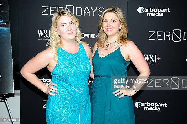 Elizabeth Chmurak and Allison Trimbell attend WSJ Presents the New York Premiere of ZERO DAYS at New York Institute of Technology on June 23 2016 in...