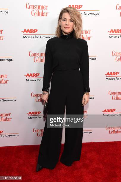 Elizabeth Chomko attends AARP The Magazine's 18th Annual Movies for Grownups Awards at the Beverly Wilshire Four Seasons Hotel on February 04 2019 in...