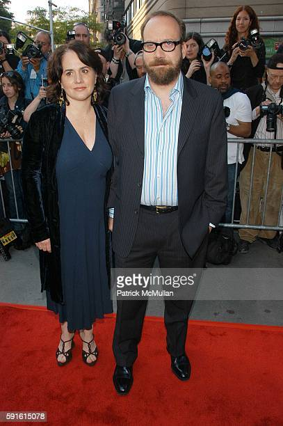 Elizabeth Cohen and Paul Giamatti attend Cinderella Man Red Carpet Arrivals at Loews Lincoln Center NYC USA on June 1 2005