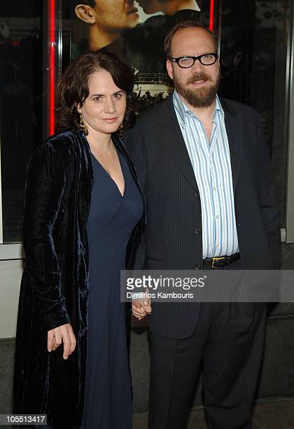 Elizabeth Cohen and Paul Giamatti during Cinderella Man New York City Premiere Arrivals at Loews Lincoln Square Theater in New York City New York...