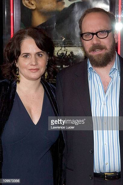 Elizabeth Cohen and Paul Giamatti during Cinderella Man New York City Premiere Benefiting The Children's Defense Fund at Loews Lincoln Square Theater...