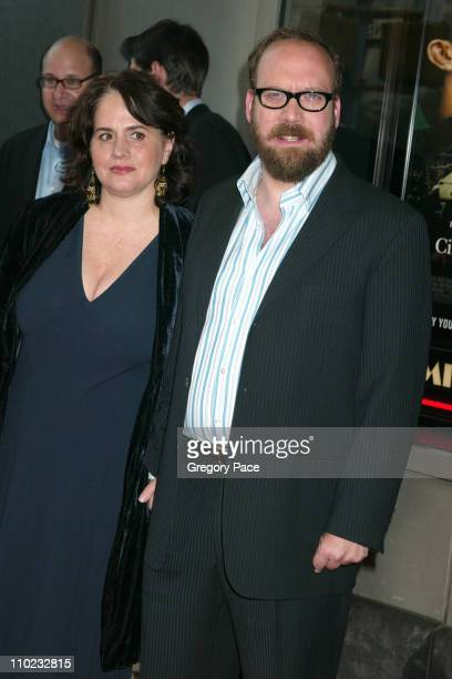 Elizabeth Cohen and Paul Giamatti during Cinderella Man New York City Premiere Outside Arrivals at Loews Lincoln Square Theatre in New York City New...
