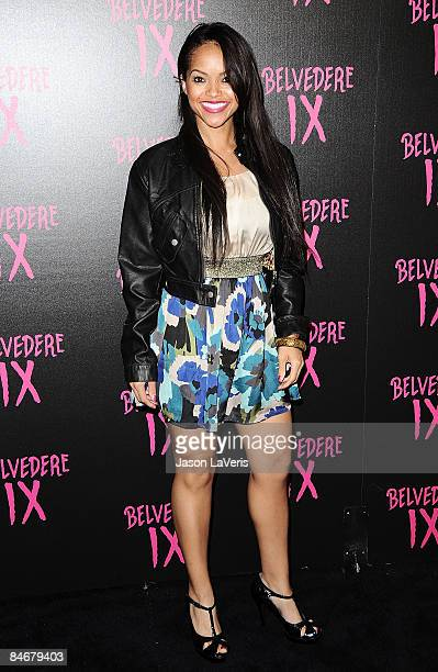 Elizabeth Covington attends the Belvedere IX launch party at MyHouse on February 5 2009 in Hollywood California