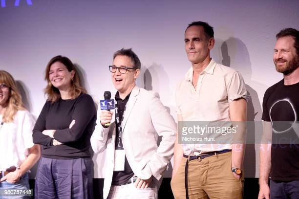 Elizabeth Crane, Jeanne Tripplehorn, Donal Lardner Ward and Damian Young attend the 'We Only Know So Much' Q&A at the 2018 Nantucket Film Festival -...