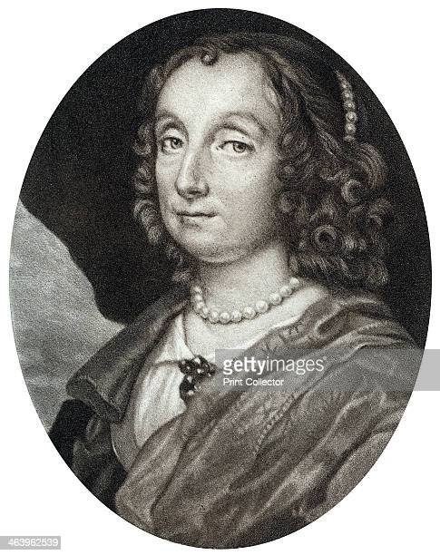 Elizabeth Cromwell wife of Oliver Cromwell 17th century Portrait of the wife of Oliver Cromwell English military leader and politician Illustration...