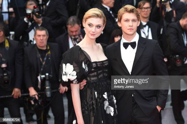 Elizabeth Debicki and Joe Alwyn attend the screening of 'Solo A Star Wars Story' during the 71st annual Cannes Film Festival at Palais des Festivals...