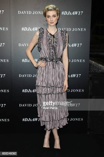 Elizabeth Debicki arrives ahead of the David Jones Autumn Winter 2017 Collections Launch at St Mary's Cathedral Precinct on February 1 2017 in Sydney...