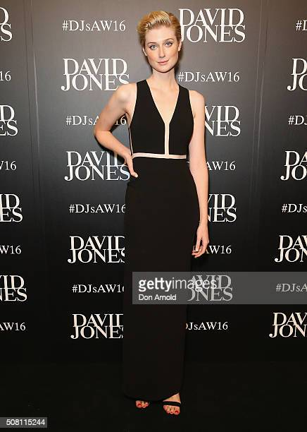 Elizabeth Debicki arrives ahead of the David Jones Autumn/Winter 2016 Fashion Launch at David Jones Elizabeth Street Store on February 3 2016 in...