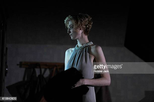 Elizabeth Debicki as Mona Sanders in David Hare's The Red Barn directed by Robert Icke at The National Theatre on October 14 2016 in London England