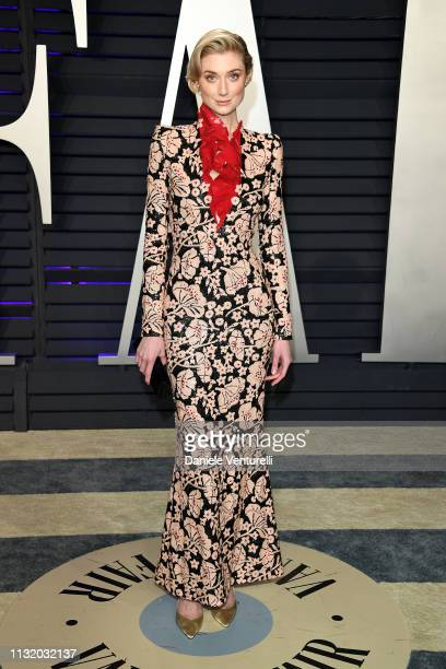 Elizabeth Debicki attends 2019 Vanity Fair Oscar Party Hosted By Radhika Jones Arrivals at Wallis Annenberg Center for the Performing Arts on...