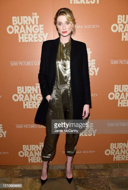 """Elizabeth Debicki attends Sony Pictures Classics and The Cinema Society Special Screening of """"The Burnt Orange Heresy"""" at The Roxy Cinema on March..."""