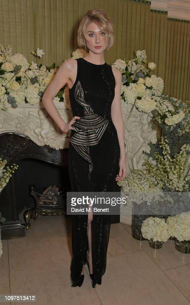 Elizabeth Debicki attends the British Vogue and Tiffany Co Celebrate Fashion and Film Party at Annabel's on February 10 2019 in London England