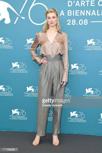 Elizabeth Debicki attends The Burnt Orange Heresy photocall during the 76th Venice Film Festival at Sala Grande on September 07 2019 in Venice Italy