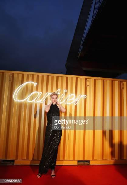 Elizabeth Debicki attends the Cartier Precious Garage Party on November 29 2018 in Sydney Australia