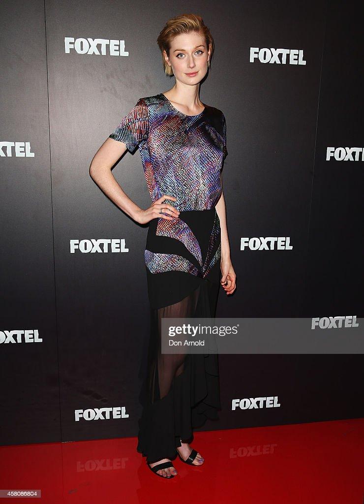 Elizabeth Debicki attends the Foxtel season launch at Sydney Theatre on October 30, 2014 in Sydney, Australia.
