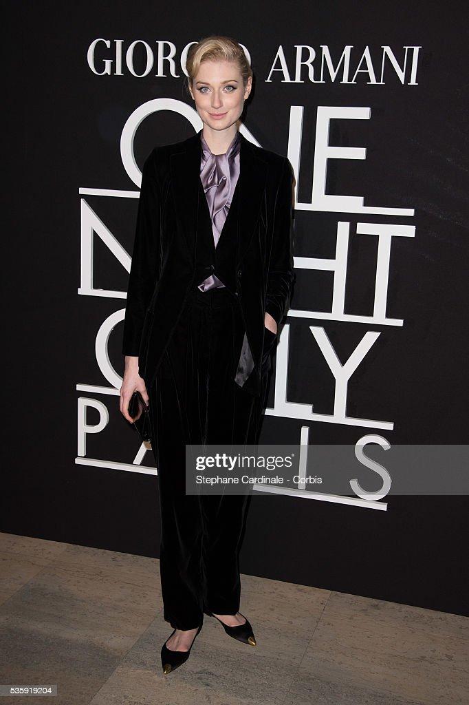 Elizabeth Debicki attends the Giorgio Armani Prive show as part of Paris Fashion Week Haute Couture Spring/Summer 2014, at Palais de tokyo in Paris.