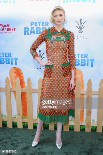 Elizabeth Debicki attends the Los Angeles Premiere 'Peter Rabbit' at The Grove on February 3 2018 in Los Angeles California