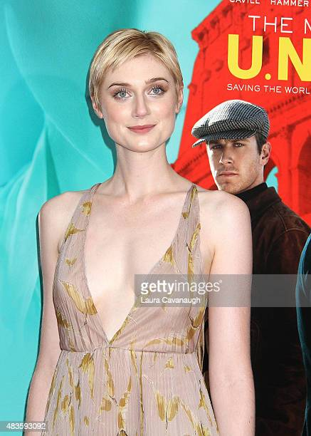 Elizabeth Debicki attends 'The Man From UNCLE' New York Premiere at Ziegfeld Theater on August 10 2015 in New York City