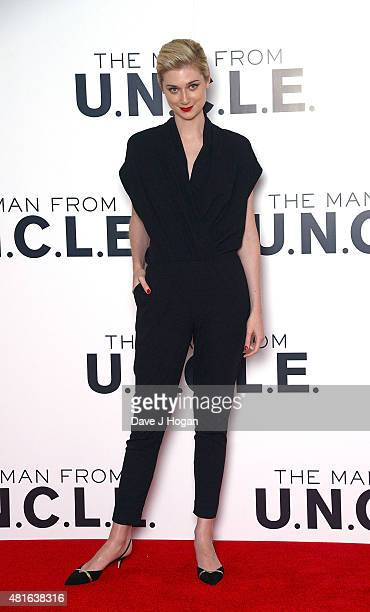 REQUIRED Elizabeth Debicki attends 'The Man from UNCLE' photocall at Claridge's Hotel on July 23 2015 in London England
