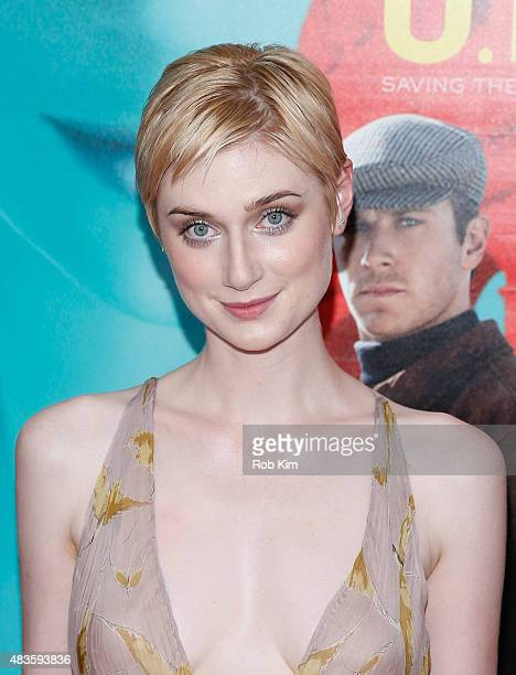 Elizabeth Debicki attends the New York Premiere for The Man From UNCLE at Ziegfeld Theater on August 10 2015 in New York City