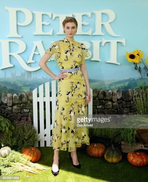 Elizabeth Debicki attends the Peter Rabbit Australian Premiere on March 17, 2018 in Sydney, Australia.