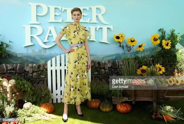 Elizabeth Debicki attends the Peter Rabbit Australian Premiere on March 17 2018 in Sydney Australia