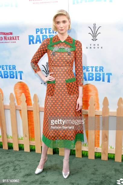 Elizabeth Debicki attends the premiere of Columbia Pictures' 'Peter Rabbit' at The Grove on February 3 2018 in Los Angeles California