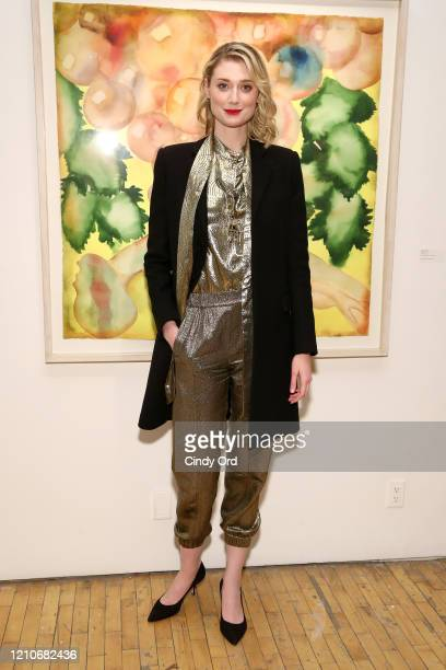 """Elizabeth Debicki attends the Sony Pictures Classics And The Cinema Society After Party For """"The Burnt Orange Heresy"""" at New York Academy of Art on..."""