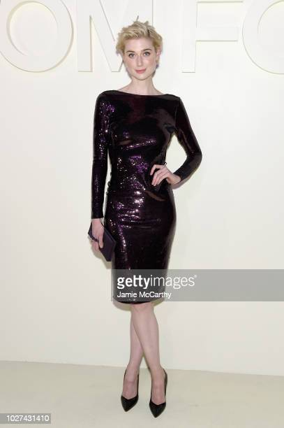 Elizabeth Debicki attends the Tom Ford fashion show during New York Fashion Week at Park Avenue Armory on September 5 2018 in New York City
