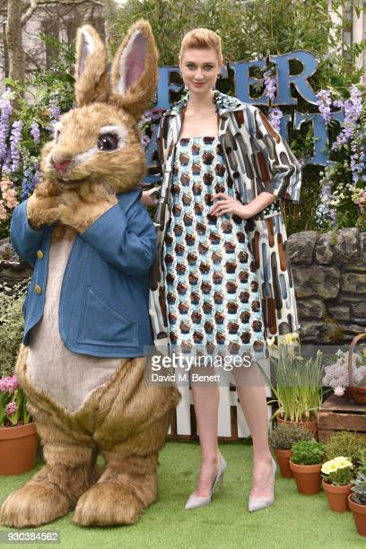 Elizabeth Debicki attends the UK Gala Premiere of 'Peter Rabbit' at the Vue West End on March 11 2018 in London England