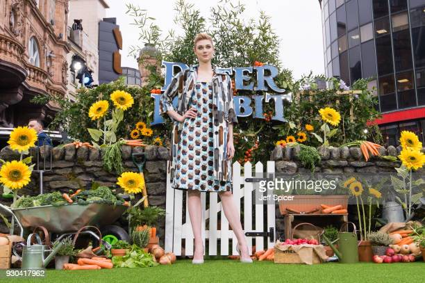 Elizabeth Debicki attends the UK Gala Screening of 'Peter Rabbit' at the Vue West End on March 11 2018 in London England