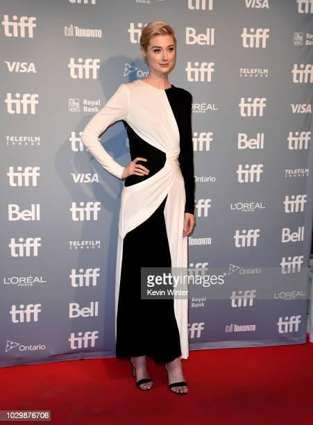 Elizabeth Debicki attends the 'Widows' press conference during 2018 Toronto International Film Festival at TIFF Bell Lightbox on September 9 2018 in...