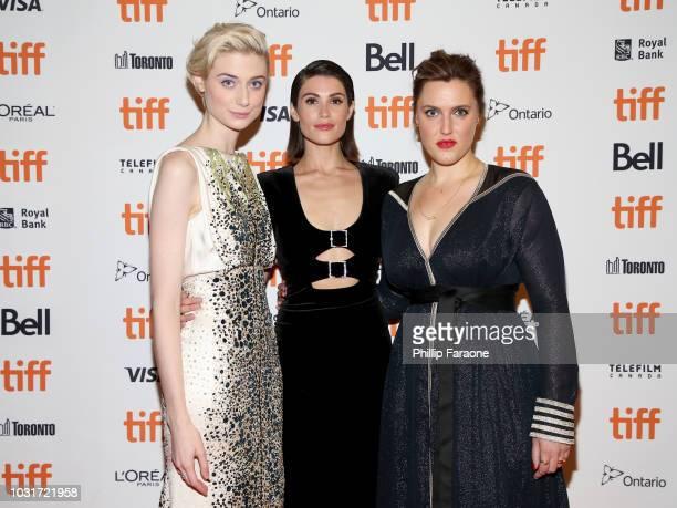 Elizabeth Debicki Gemma Arterton and Chanya Button attend the 'Vita Virginia' premiere during 2018 Toronto International Film Festival at Winter...