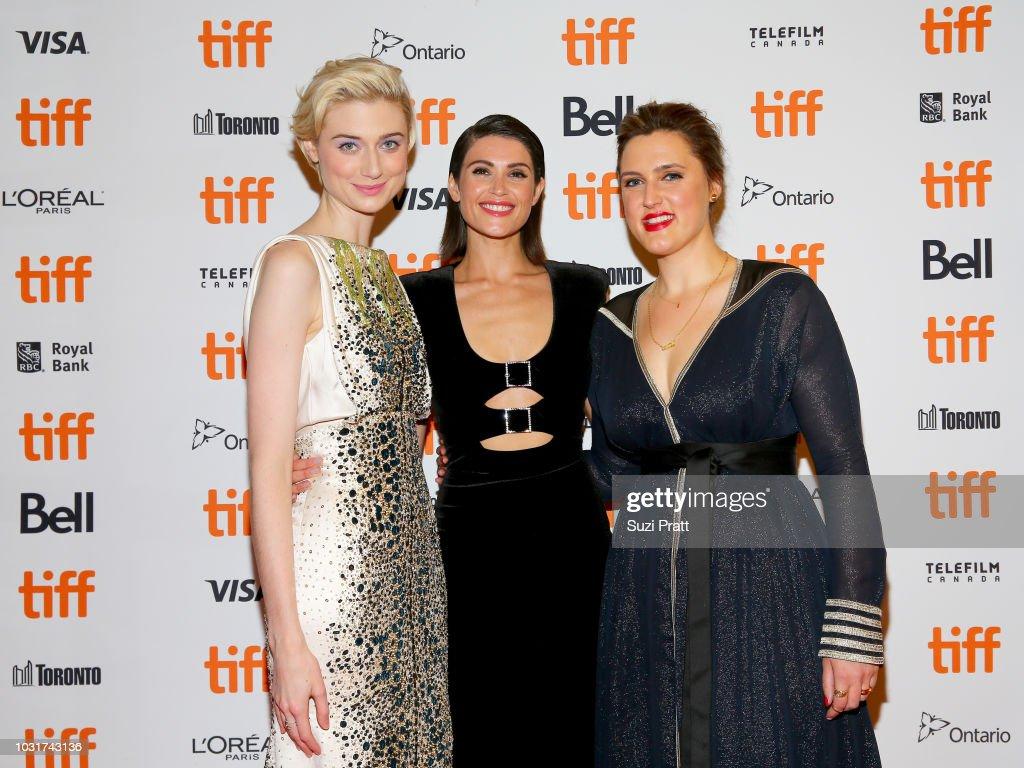 Elizabeth Debicki, Gemma Arterton and Chanya Button attend the 'Vita & Virginia' premiere during 2018 Toronto International Film Festival at Winter Garden Theatre on September 11, 2018 in Toronto, Canada.