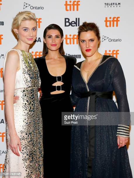 Elizabeth Debicki Gemma Arterton and Chanya Button attend the 'Vita Virginia' premiere during 2018 Toronto International Film Festival at Winter...