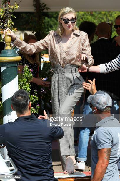 Elizabeth Debicki is seen arriving at the 76th Venice Film Festival on September 07 2019 in Venice Italy