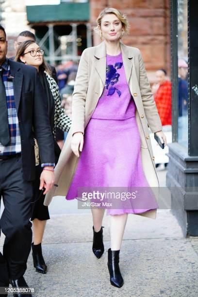 Elizabeth Debicki is seen on March 5, 2020 in New York City.