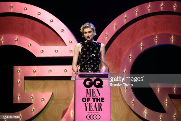 Elizabeth Debicki presents the GQ Legacy Award during the GQ Men Of The Year Awards Ceremony at The Star on November 15 2017 in Sydney Australia