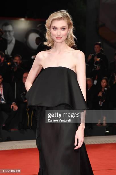 "Elizabeth Debicki walks the red carpet ahead of the ""The Burnt Orange Heresy"" during the 76th Venice Film Festival at Sala Grande on September 07,..."