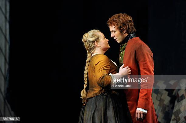 Elizabeth DeShong as Cenerentola and Taylor Stayton as Don Ramiro in Glyndebourne's production of Gioachino Rossini's La Cenerentola directed by...